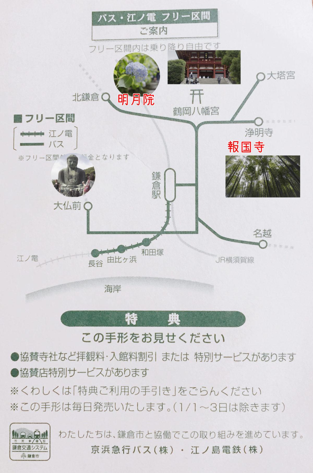 鎌倉フリー観光手形