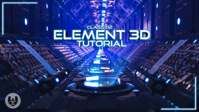 Element 3D Tutorial   After Effects Tutorial   class - 02