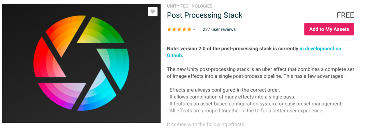 Post Processing Stack