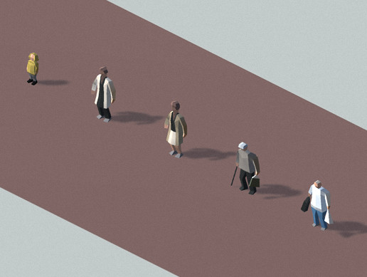 Low Poly Animated People