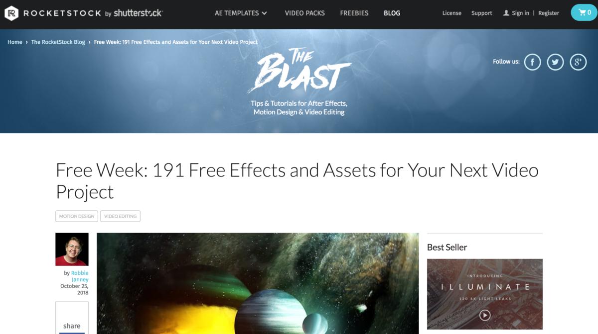 Rocket Stock 191 free asset
