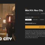 【無料】Kitbash 3Dのサイバーパンクなミニキット「Neo City」がリリース!