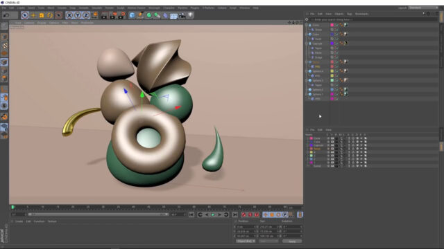 C4D Abstract Art with Deformers_img03