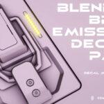 "<span class=""title"">【無料】Blender Bros氏製作の「Emissive Decal Pack」がダウンロード可能(#Blender)</span>"