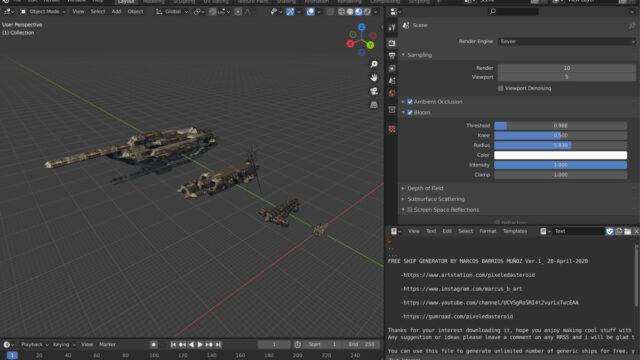 Free Procedural Spaceship Maker_img01