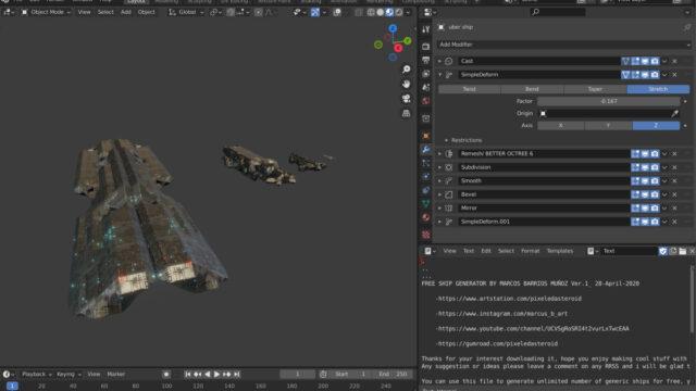 Free Procedural Spaceship Maker_img02