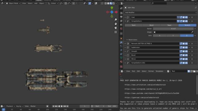 Free Procedural Spaceship Maker_img03