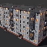 【無料】Alexey Yakovlev氏のプロシージャルなビルのアセットがダウンロード可能(#Blender)