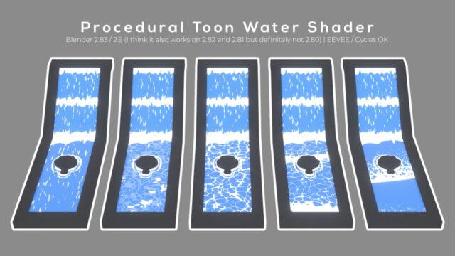 Procedural Toon Water Shader_img01