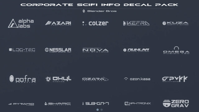 SciFi Corporation Info Decal Pack-thumbnail