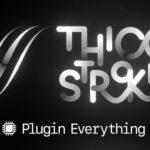 【無料】グラデーション付きのパス作成プラグイン「Thicc Stroke」がダウンロード可能(#After Effects)
